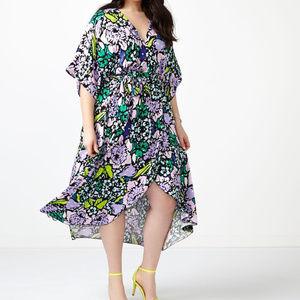 NWOT Melissa McCarthy Seven7 Floral Wrap Dress